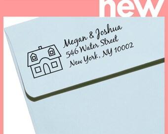 "Personalized Eco Friendly Self Inking Address Stamp Wedding Gift, Return Address, Etsy Shop Labels ""Housewarming 1"""