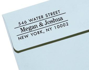 """Personalized Eco Friendly Self Inking Stamp Wedding Gift, Return Address, Etsy Shop Labels """"Name34"""""""