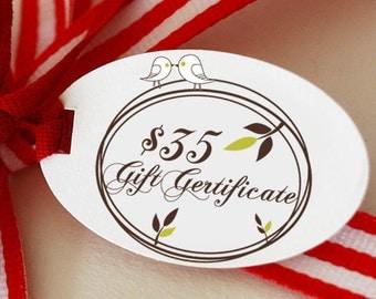 GIFT Certificate - 35 Dollars