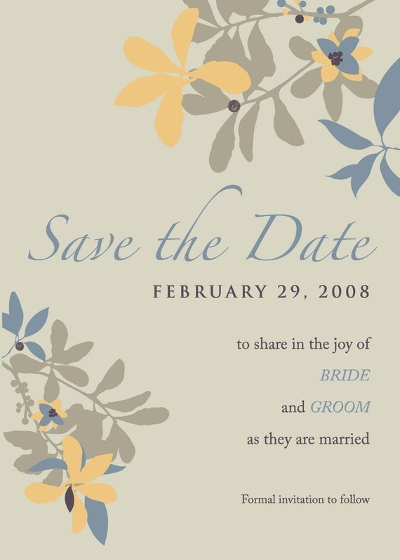 SAVE THE DATE via email for a GREENER wedding - Emily