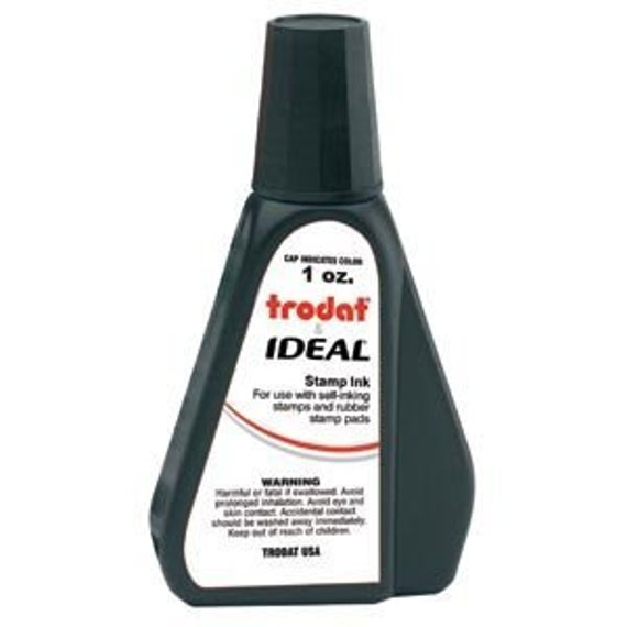 Water Based self-inking REFILL INK 1oz bottle -- SMALL