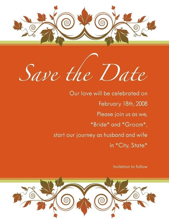 SAVE THE DATE via email for a GREENER wedding - Ava