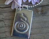 Pregnancy / Birth Spiral Solid Sterling Pendant - PERSONALISED