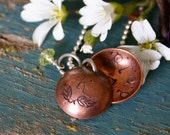 Copper Initial Locket - Personalized -  Mother's Necklace