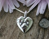 Pawprints On My Heart, Pendant Necklace for Cat and Dog Owners, PERSONALISED