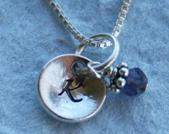 Initial Necklace - Little Girl Gift