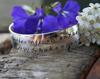 Baby Bracelet, Wide Hand Stamped Baby, Toddler or Child Cuff - great gift for TWINS