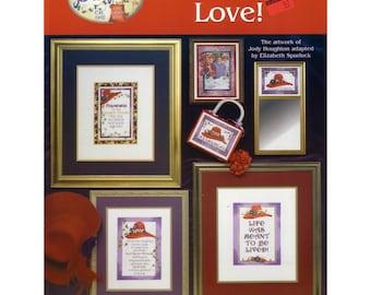 Red Hat cross stitch charts   Live, Laugh, Love