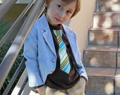HAPPY Stripes NECKTIE Appliquéd on a lap tee........... TRENDY and cool style for boys. church, wedding, birthday outfits