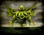 Cthulhu Awakens and Totally Shreds a Sweet Ass Guitar Solo