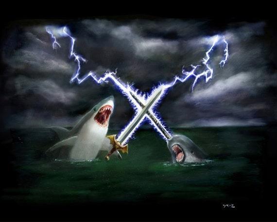 Shark vs Narwhal