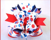 Patriotic July 4th Uncle Sam Hat Boutique Hair Bow