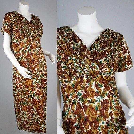 50's Vintage Town Talk Floral Day Dress