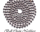 100 Silver Plated Ball Chain Necklaces w/ Connectors 24 Inch - Scrabble Tile -  Dog Tags - Bottle Caps - Pendant - Necklace - Aunt Christys