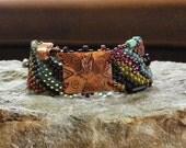Free Form Peyote Stitch Beaded Bracelet Southwestern Bracelet - Pueblo