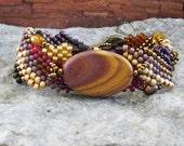 Free Form Peyote Stitch Beaded Bracelet - Ghost Ranch