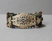 Free Form Peyote Stitch Beaded Bracelet - DISCOUNTED