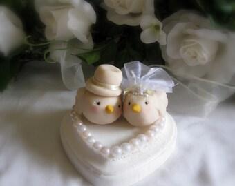Love Birds wedding cake topper or wedding memento figurine
