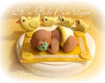 SALE was 40.00 New Baby Duckie Cake Topper