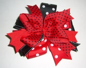 red black white hairbow