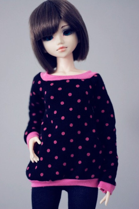 Pink Dots sweater MSD size