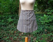 upcycled dress shirt skirt
