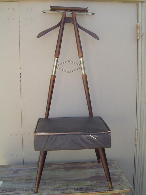 Mid Century Danish Modern Vintage Valet Butler Dressing Chair