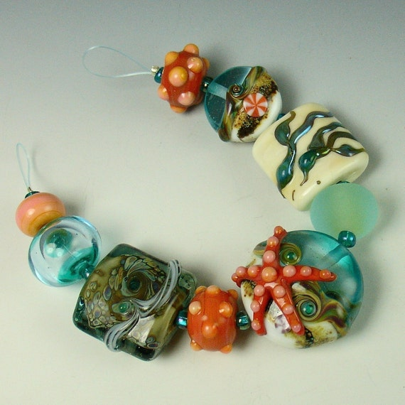 Stephaniebeads Lampwork Starfish Set