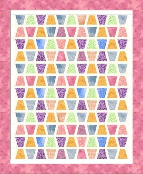 TEMPLATE and PATTERN Tumbler Quilt Pattern and Template 4