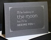 BE SEEING YOU silent film-inspired letterpress card