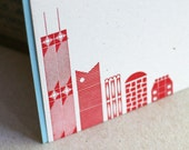 Chicago Skyline flat note cards SET OF 6