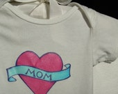 I Heart Mom Tattoo Onesie