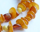 Sunshine Amber Nugget Necklace - pinksnakejewelry