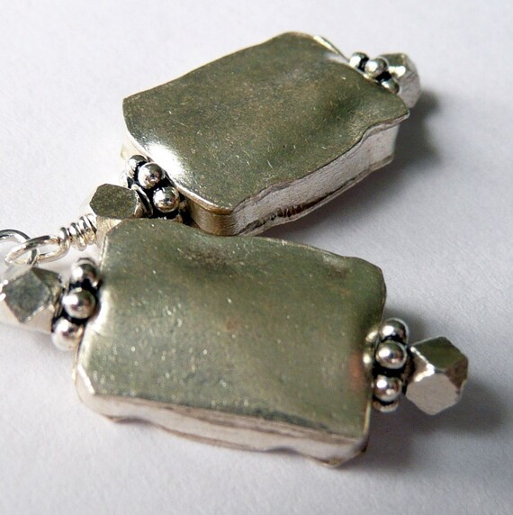 Artic Brushed Matte Sterling Silver Earrings