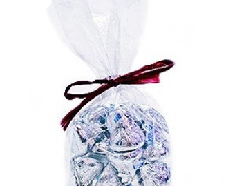 C00 Crystal Clear Cellophane Bags Favor Bags for Weddings and events