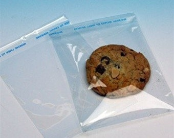 4.5 x 5.5 cookie cellophane bags Resealable BAGS  set of 200