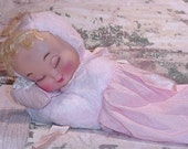 REDUCED Vintage Mighty Star Pillow Doll - BabyDoll - Shabby Sweet