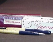 Vintage boxed WATERMAN fountain pen and pencil