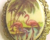 PINK FLAMINGO PINS GORGEOUS FILLIGREEN BACK 2 Pins for 9.95