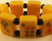 Old Bakelite Mahjong Mah-Lowe Joker Bracelet By Jan Carlin