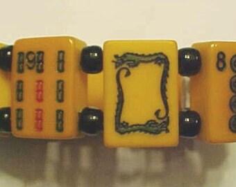 Two Tone Mah Jong Bracelet