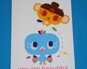 Memo Me PeekaBoo I Love You Greeting Card - Flash