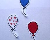 balloon patch set - illustration - digital drawing - sew on patch - embellishment - accessories - customize - patches
