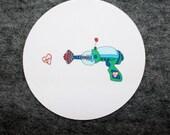 green raygun mousepad