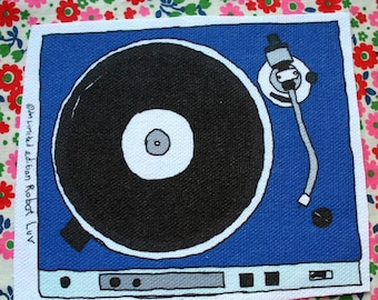 turntable patch blue