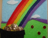 RESERVED for rsully2sphotography, Rainbow's End, Original OOAK Felt ACEO, 7 Card Draw