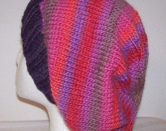 Wool/Nylon Slouch Hat - Slouchy Knit Beanie - Knitted Dreadlock Beanie - U-Pick