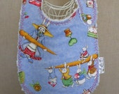 bunny gardeners -- boutique  couture  bib by lillybelle designs
