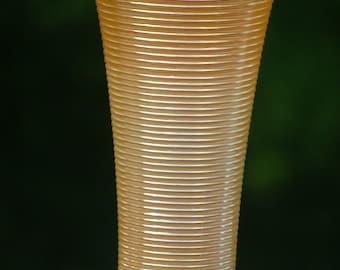 Anchor Hocking Peach Lusterware over Milk glass Vase