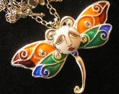 Tuscany Dragonfly SNOOKS Necklace by Brenda Miller